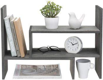 10. MyGift Desktop Bookshelves