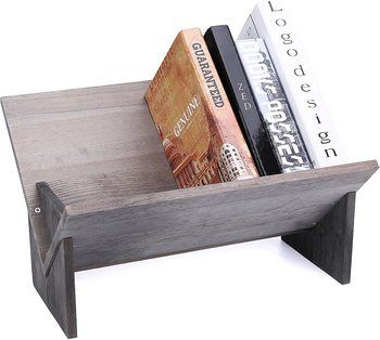 4. MyGift Desktop Decorative Storage Organizer Display Bookshelf