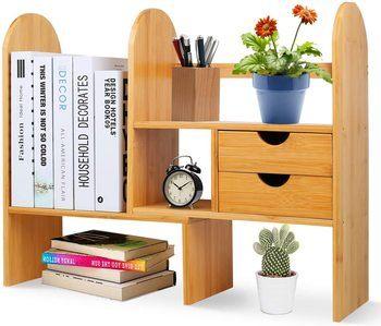 8. Phyllia Desktop Bookshelves
