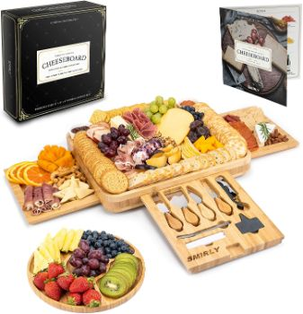 #1. SMIRLY Cheese Board and Knife Set