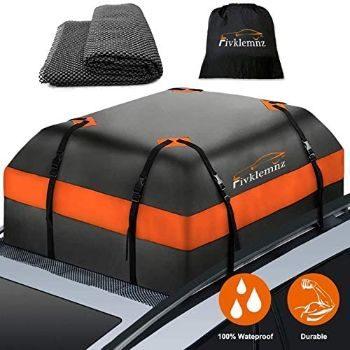 #2. FIVKLEMINZ Car Roof Bag Cargo Carrier