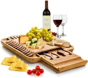 #9. Bambusi Cheese Board and Knife Set